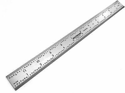 "Benchmark Tools 2 Ea 12"" 4R Rigid Machinist Ruler Grads Brushed Stainless Steel 3"