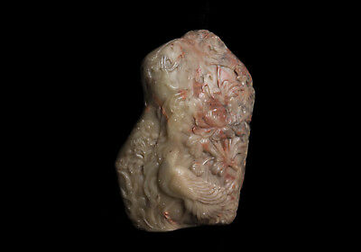 China 19. Jh Soapstone - a Chinese Soapstone Boulder Carving - Chinois Qing 4