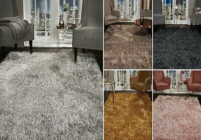 5.5cm Large SHAGGY Floor RUG Soft SPARKLE Shimmer Glitter Thick Soft Pile Rugs 3