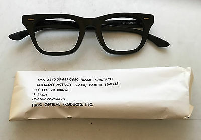 216f7474d4 ... Vintage Mens Eyeglasses - Black Plastic 1950 s Eye Glasses - Halo Nerdy  Frames 3