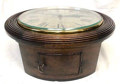 National Provincial Bank CHAIN Fusee Mahogany Wall Clock SIR JOHN BENNETT LONDON 9