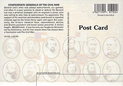 Confederate Generals, Robert E. Lee, Jackson, etc. - Military Civil War Postcard 2