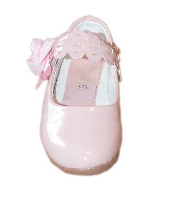 #BF1B Mädchenschuhe Kinder Festliche Ballerina Pumps mit Absatz Lackoptik pink