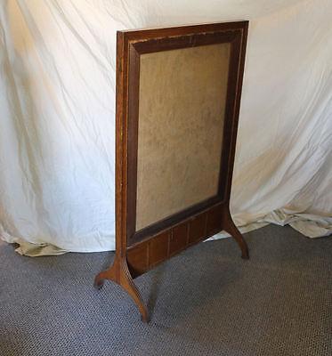 Antique Oak Fireplace Screen Insert - Tapestry Insert - 4