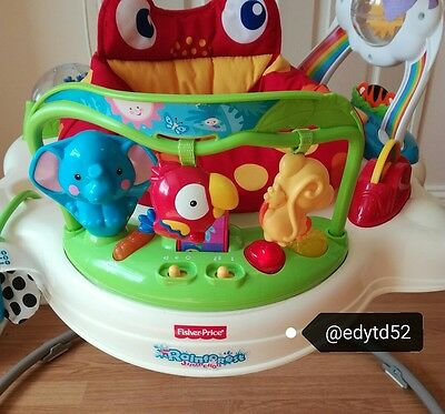 172ea7a9b FISHER PRICE JUMPEROO rainforest bouncer baby toy activity jumping ...