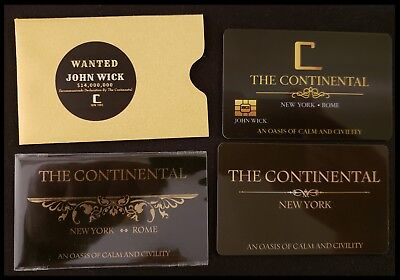 John Wick Cosplay Movie Prop Continental Hotel Comiccon Baba Yaga Reeves No Coin 9