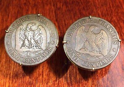 Antique 1893-1915 Imperial Austria Double Eagle Austrian Coin Cufflinks Box!
