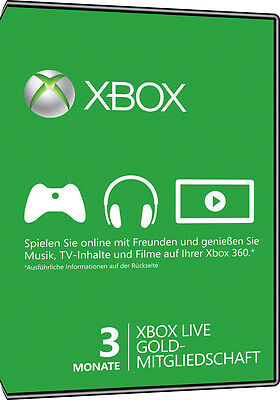 Xbox Live Gold Mitgliedschaft 3 Monate Card - Xbox One / Xbox 360 Download Code 2
