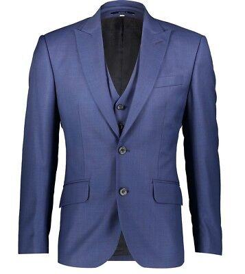 HARDY AMIES 3 PIECE Check SOFT ITALIAN WOOL Suit UK46 US46 IT56 C46 x W40 NEW 2