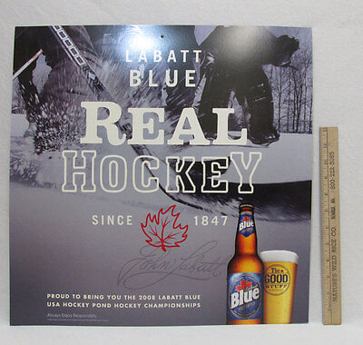 Labatt blue beer signs cardboard wall hanging real hockey 2008 bars labatt blue beer signs cardboard wall hanging real hockey 2008 bars home set 4 aloadofball Image collections