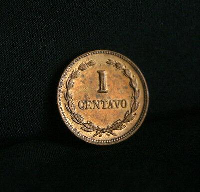 1 Centavo El Salvador 1972 World Coin Francisco Morazan High Grade Luster