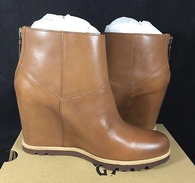 475200947db Amal Sheepskin Wedge Chestnut Boots Ankle Australia Leather Ugg 3 ROx57Iqw