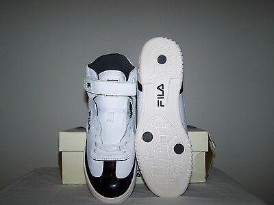 6b2c4f9955 MEN'S NEW FILA F-13 White Shoes with Black Patent Leather Trim