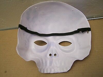 1 of 2 day of the dead plastic sugar skull halloween mask with elastic strap red