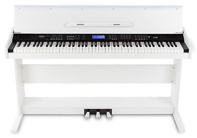 88-Tasten Digital E-Piano Beginner Home Keyboard Klavier 3-Pedale USB Weiß 2