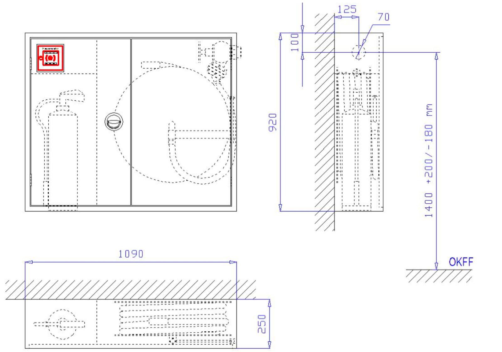 Schild Zusatzschild Wandhydrant Typ F Folie nachleuchtend selbstklebend 200x75mm