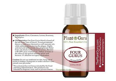 Four Gurus Essential Oil Blend 10 ml. 100% Pure Therapeutic Grade Thieves 2