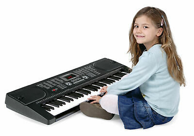 Tastiera Musicale Elettronica 61 Tasti 255 Suoni con Supporto Sgabello Cuffie 3