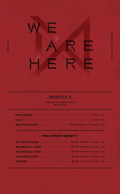 US SHIPPING Monsta X[Take.2 We Are Here]2nd Album Random CD+Book+ETC 8