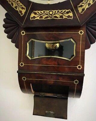 Whitmore Northampton Regency Superb Brass Inlaid Convex Dial Wall Clock 2