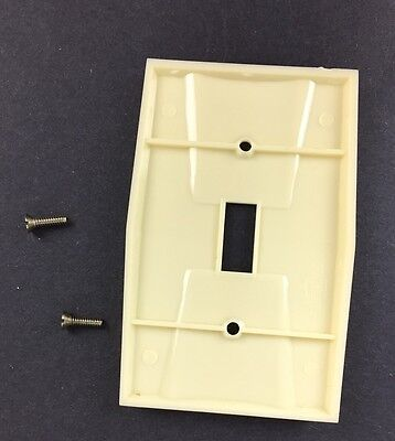 Vtg NOS Homart Switch Plate Cover Ivory Decorative Single Toggle 50s 60s Sears 4