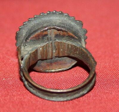 Ancient Greek Hand Made Bronze Folk Ring