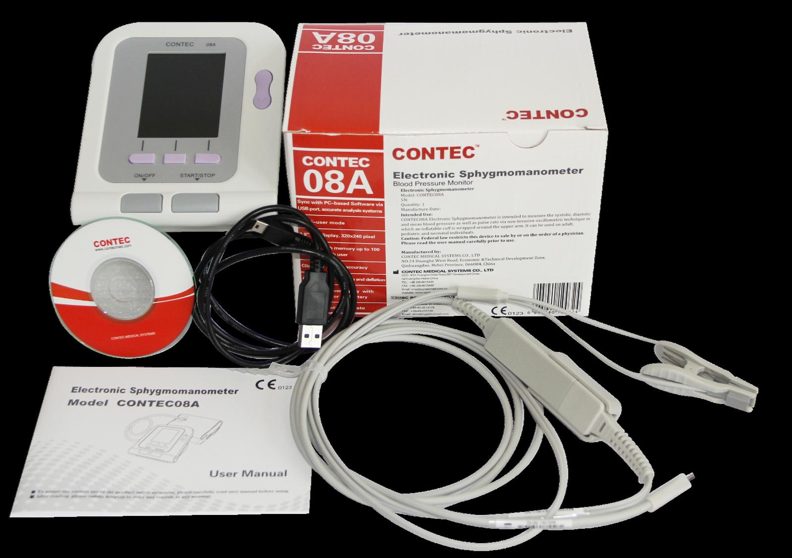 FDA Veterinary OLED digital Blood Pressure&Heart Beat Monitor NIBP CONTEC08A Vet 8