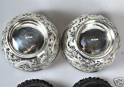 Silver Antique Chinese China Export Solid Silver Tea Set Pot Bowl Creamer 1880 100% Original Non-u.s. Silver