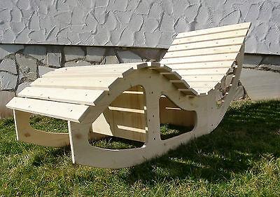 relaxliege schaukelliege holzliege sauna gartenm bel. Black Bedroom Furniture Sets. Home Design Ideas