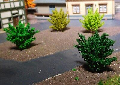 50 Büsche, 40 mm hoch, hellgrün, mittelgrün, dunkelgrün, dunkelgelbgrün 7