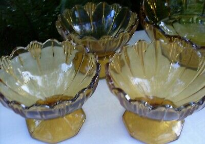RARE Antique 1920's SOWERBY England HUMPHREY AMBER BOWLS SET VG Collectable Aust 9