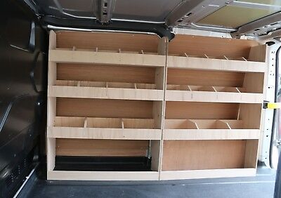 Lightweight Vanify Transit Custom LWB Plywood Racking OS Rear