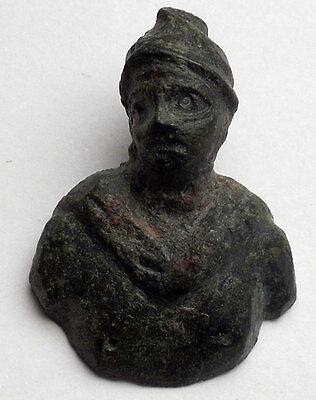 Ancient Roman MARS BUST Miniature Amulet of Protection Figure of Soldier i44981 4