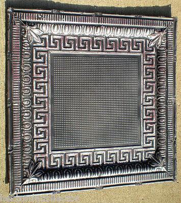 SALE Victorian Art Deco Ceiling Tin Tile Aztec Fleur De Li Chic Geometric Key 2
