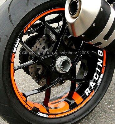 KTM Duke 525 1090 1190 1290 Adventure super duke Enduro Felge Felgenaufkleber