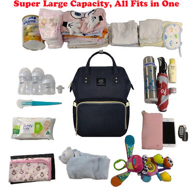 Multifunctional GENUINE LAND Large Baby Diaper Backpack Mummy Nappy Changing Bag 3