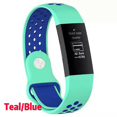 For Fitbit Charge 3 Replacement Silicone Wristband Watch Sports Band Strap NEW 8
