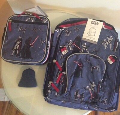 ICE Bag LUNCH BOX Pottery barn SET LARGE Star Wars Darth Vader Tech Backpack