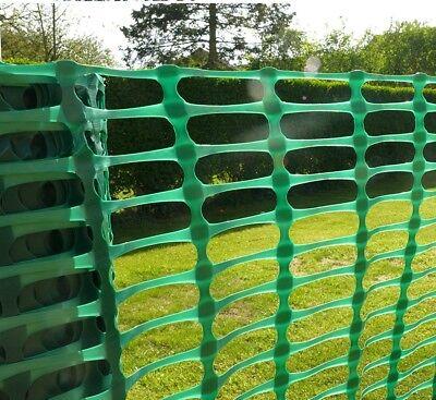 PLASTIC MESH BARRIER SAFETY FENCE Metal Steel Fencing Pins Netting Net Orange 1m 4