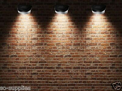6 X Solar Power Powered Door Fence Wall Lights Led Outdoor Garden Shed Lighting 2