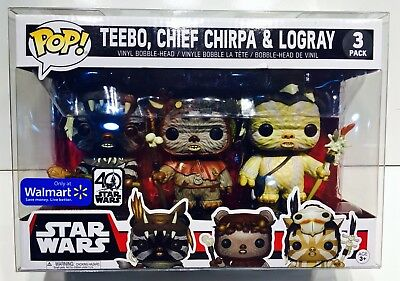 1 Box Protector For FUNKO POP! Smaller 3 packs.  Ewoks, Snap, Rush Etc.  READ!!! 3
