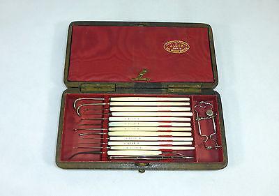 Selten!!! Set med. Instrumenten im Originaletui Georg Wilhelm Amatus Lüer Paris