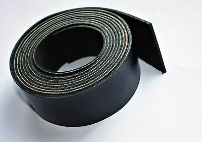 200 cm long BLACK LEATHER STRAP BELT BLANK STRIP width 10-100 mm 2 mm thick 6