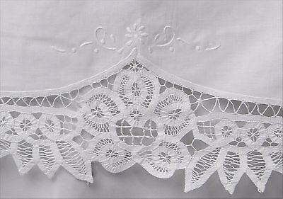 creative linens battenburg lace bedskirt dust ruffle twin white 100