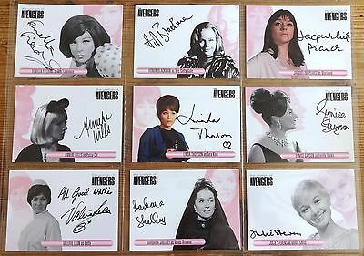 Women of The Avengers Cult 1960s UK TV Sealed Box of Autograph Trading Cards