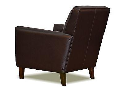 Stupendous Genuine High End Espresso Brown Leather Club Chair Spiritservingveterans Wood Chair Design Ideas Spiritservingveteransorg