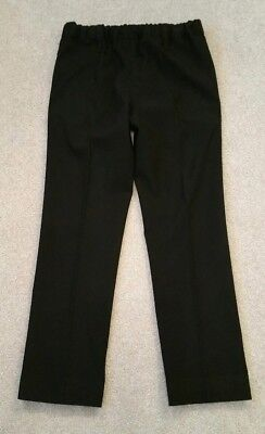 M&S girls lovely smart black Fitted trousers Age 7-8Yrs in vgc as shown 3