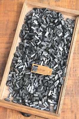 Buchstabensalat BREITE AKZIDENZ GROTESK 20p - 7,5 mm Bleilettern Bleischrift ABC 2