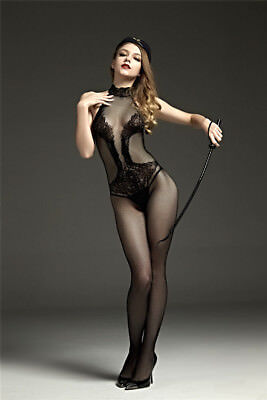 sexy Catsuit Dessous Babydoll Bodystocking erotik Reizwäsche Overall SM bandage 5