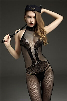 sexy Catsuit Dessous Babydoll Bodystocking erotik Reizwäsche Overall SM bandage 2